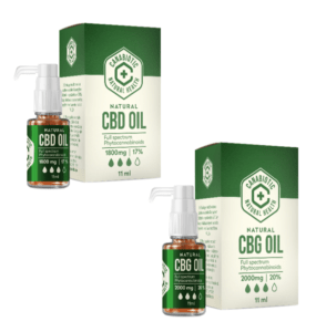 RINKINYS: CANABIOTIC CBD OIL 1800 Mg (17%) IR CANABIOTIC CBG OIL 2000 Mg (20%)